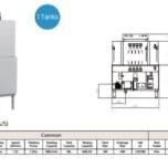 Máy rửa chén băng tải 1 khoang rửa BL5100